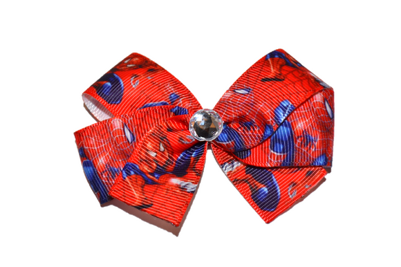 Spiderman Bow (Superhero) - Dream Lily Designs