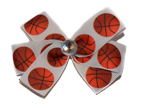 Basketball on White Bow (Sports)
