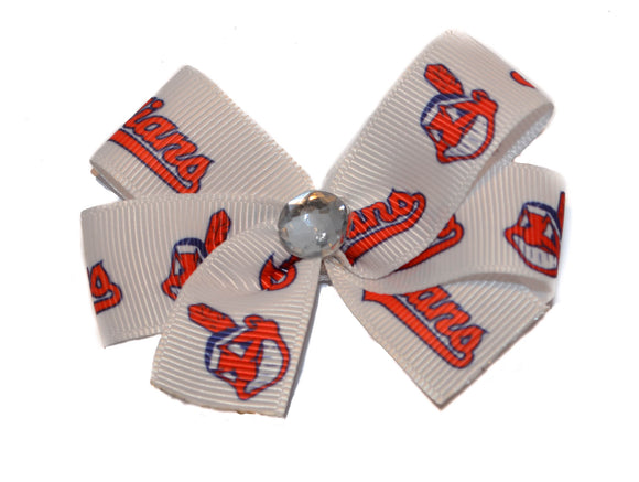 Cleveland Indians Baseball Bow (Sports Teams) - Dream Lily Designs