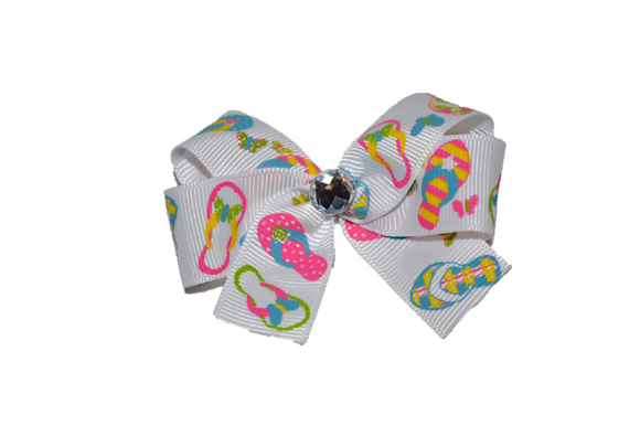 Flip Flops Bow (Misc Patterns) - Dream Lily Designs