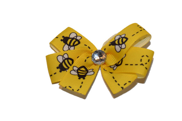 Yellow Black Honey Bee Bow (Animal)