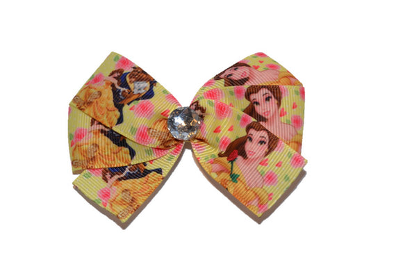 Belle Yellow Rose Beauty and the Beast Princess Bow (Disney) - Dream Lily Designs