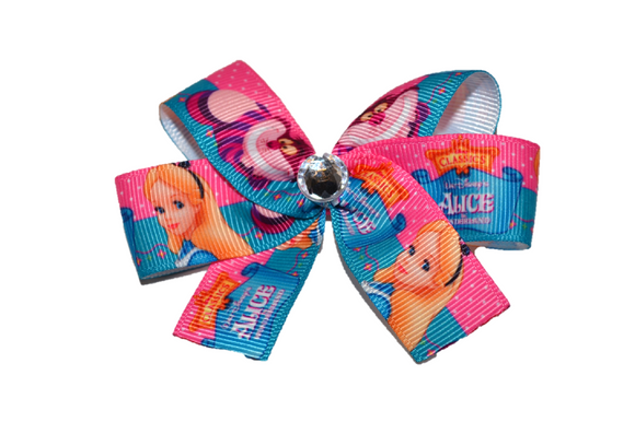 Alice in Wonderland Pink Blue Bow (Disney) - Dream Lily Designs