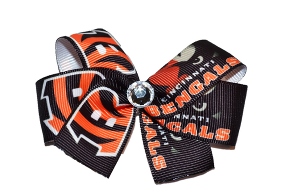 Black Bengals Bow (Sports Teams)