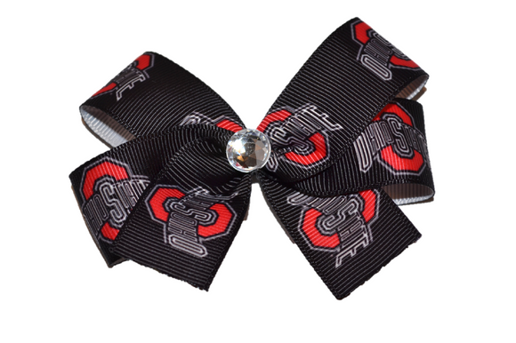 Black Ohio State Bow (Sports Teams) - Dream Lily Designs