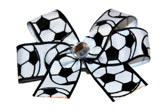 Bordered Soccer Bow (Sports)