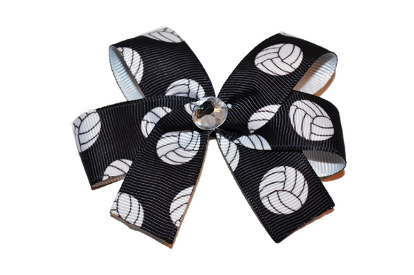 Black Volleyball Bow (Sports)