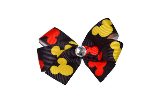 Red and Yellow Mickey Minnie Bow (Minnie) - Dream Lily Designs