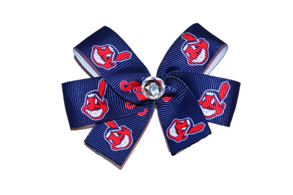 Cleveland Indians Logo Bow (Sports Teams) - Dream Lily Designs