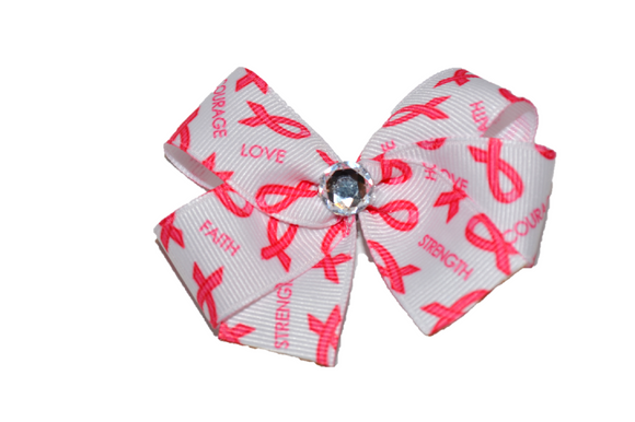 Breast Cancer Ribbon Bow (Misc Patterns) - Dream Lily Designs