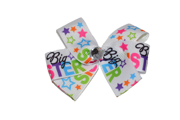 Big Sister Star Bow (Sister) - Dream Lily Designs