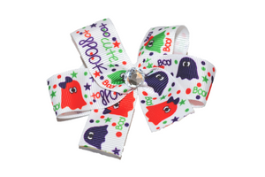 Colorful Ghosts Bow (Halloween) - Dream Lily Designs