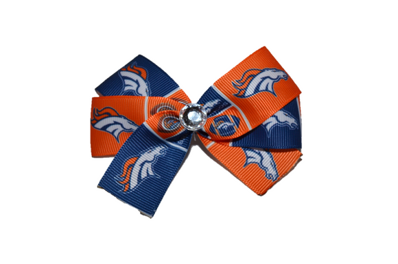 Denver Broncos Bow (Sports Teams) - Dream Lily Designs