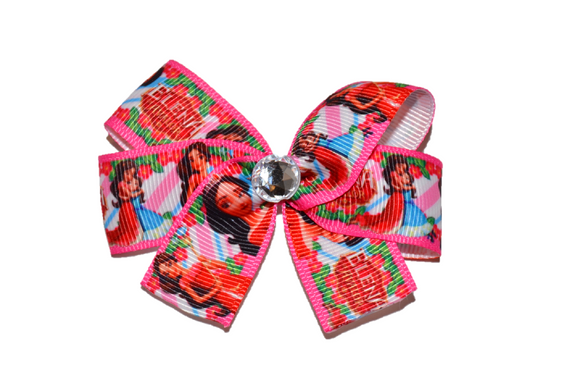 Elena of Avalor Hot Pink Princess Character Bow (Disney) - Dream Lily Designs