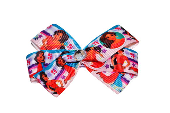 Elena of Avalor Purple Teal Princess Character Bow (Disney) - Dream Lily Designs