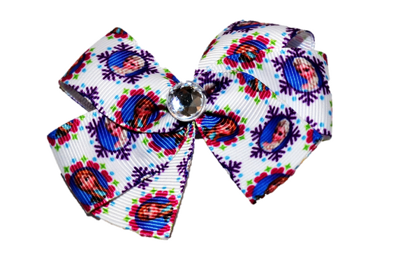 Frozen Anna Elsa White Snowflake Bow (Disney) - Dream Lily Designs
