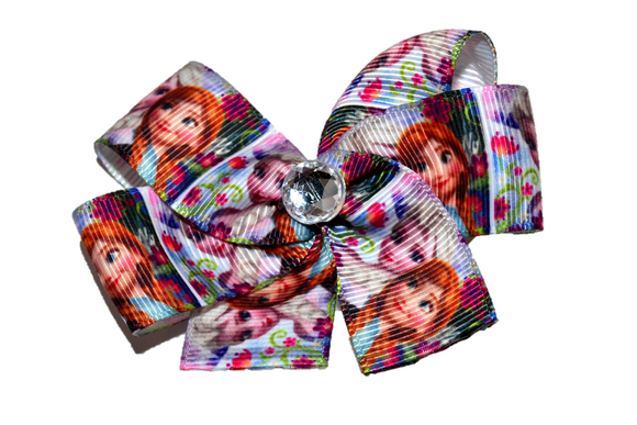 Frozen Anna Elsa Flowers Princess Bow (Disney) - Dream Lily Designs