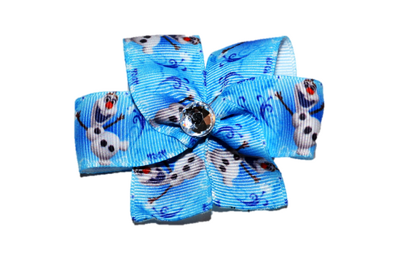 Frozen Light Blue Olaf Bow (Disney) - Dream Lily Designs
