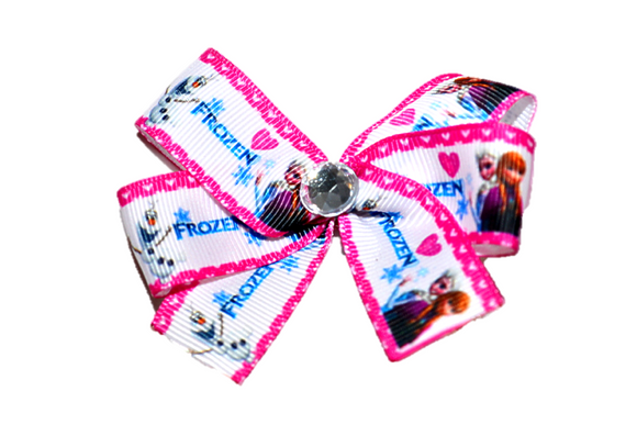 Frozen Love Anna Elsa Olaf Bow (Disney) - Dream Lily Designs