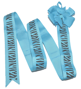 Blue Zebra Headband and Hairbow Holder - Dream Lily Designs