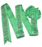Green Zebra Headband and Hairbow Holder - Dream Lily Designs