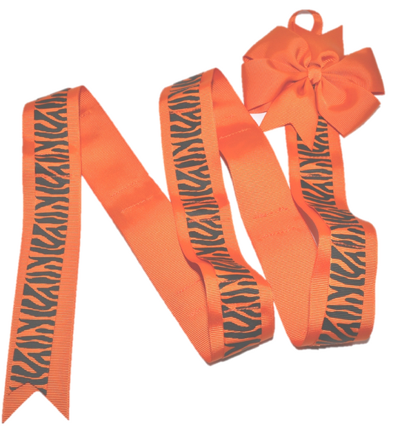 Orange Zebra Headband and Hairbow Holder - Dream Lily Designs