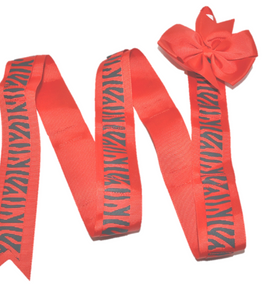 Red Zebra Headband and Hairbow Holder - Dream Lily Designs
