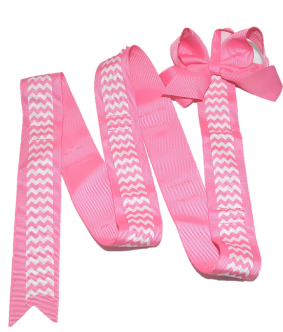 Pink Chevron Headband and Hairbow Holder - Dream Lily Designs