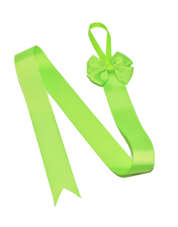 Lime Green Hair Bow Holder - Dream Lily Designs