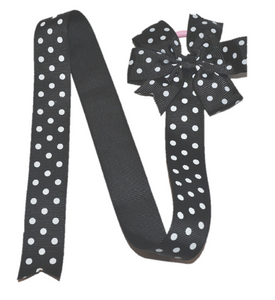 Black Polka Dot Hair Bow Holder
