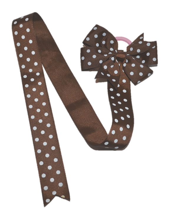 Brown Polka Dot Hair Bow Holder - Dream Lily Designs