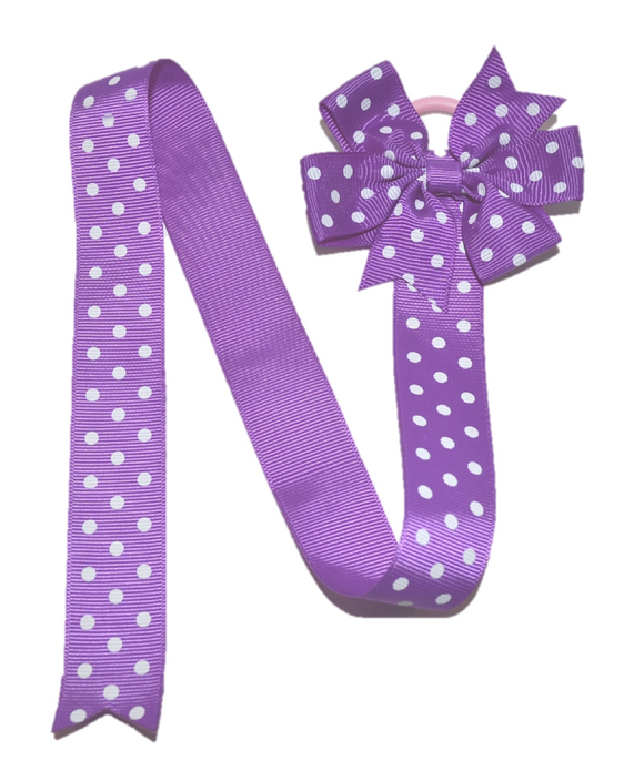 Purple Polka Dot Hair Bow Holder - Dream Lily Designs