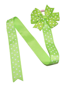 Lime Green Polka Dot Hair Bow Holder - Dream Lily Designs