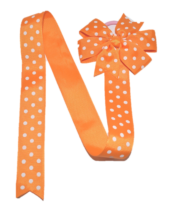 Orange Polka Dot Hair Bow Holder - Dream Lily Designs