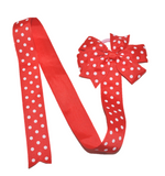 Red Polka Dot Hair Bow Holder - Dream Lily Designs