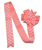 Coral Polka Dot Hair Bow Holder - Dream Lily Designs