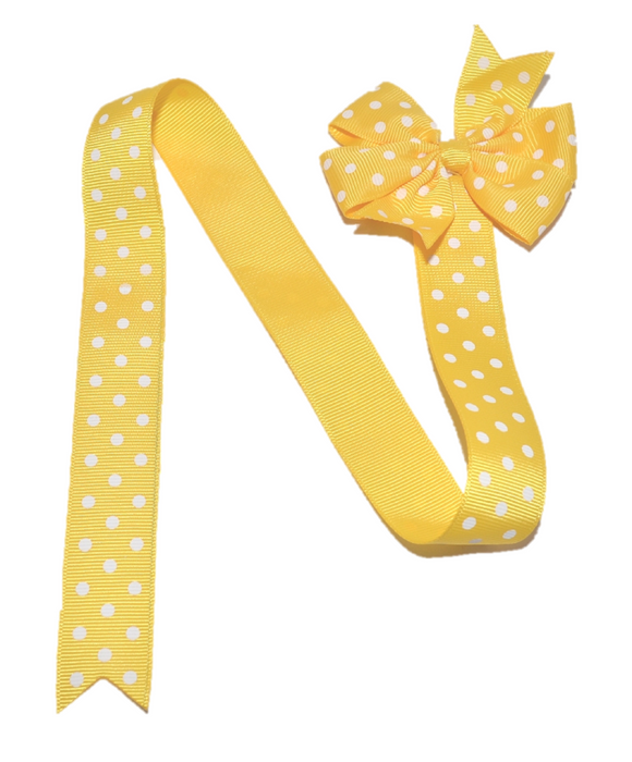 Yellow Polka Dot Hair Bow Holder - Dream Lily Designs