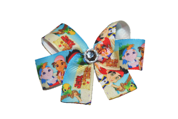 Jake and the Neverland Pirates Light Blue Bow (Disney) - Dream Lily Designs