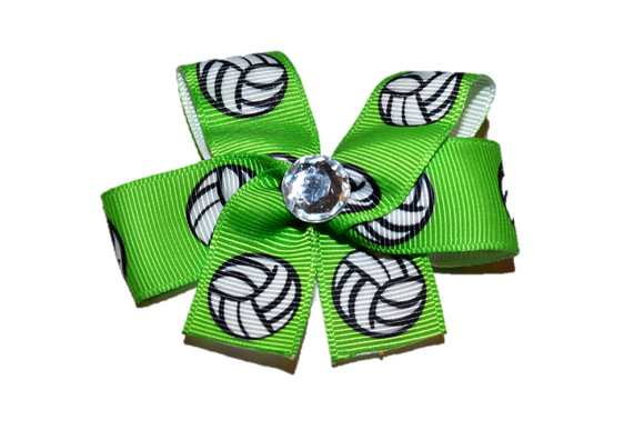 Green Volleyball Bow (Sports)
