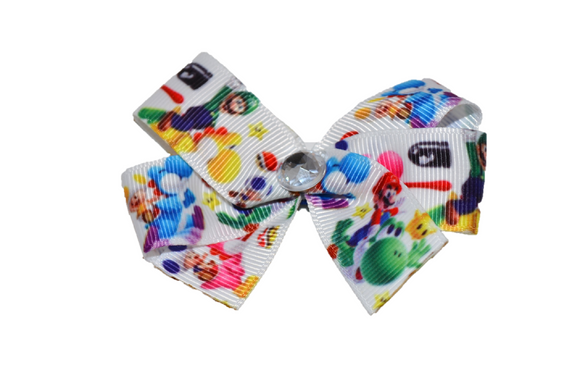 Mario Yoshi Bow (Misc Characters) - Dream Lily Designs