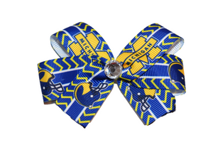 Blue Michigan Football Bow (Sports Teams) - Dream Lily Designs