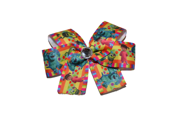 Monsters Inc Mike Sully Boo Orange Bow (Disney)