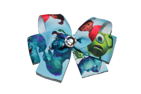 Monsters Inc Mike Sully Blue Bow (Disney)