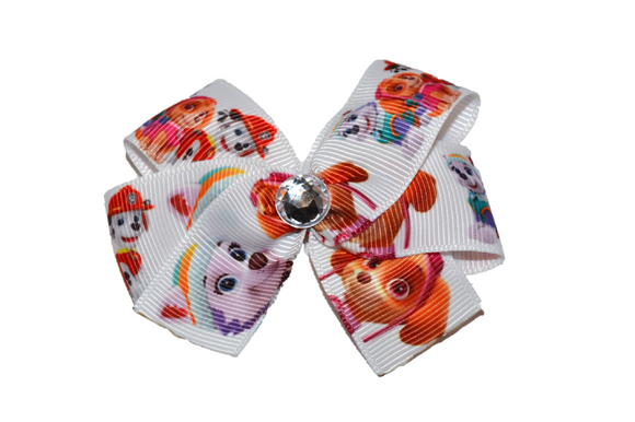 Paw Patrol White Skye Everest Marshall Bow (Misc Characters) - Dream Lily Designs
