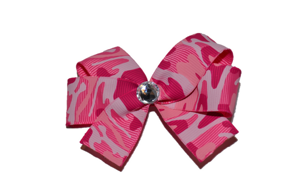 All Pink Camo Bow (Service) - Dream Lily Designs