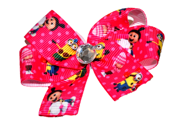 Despicable Me Minion Hot Pink Bow (Misc Characters) - Dream Lily Designs