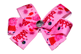 Peppa Pig Red Pink Bow (Misc Characters) - Dream Lily Designs