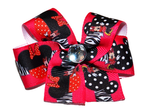 Hot Pink and Black Minnie Bow (Minnie) - Dream Lily Designs
