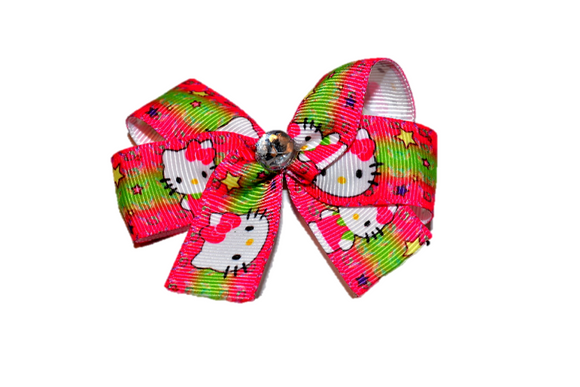 Hello Kitty Pink Green Bow (Misc Characters) - Dream Lily Designs