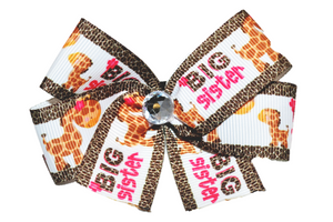 Big Sister Giraffe Bow (Sister) - Dream Lily Designs
